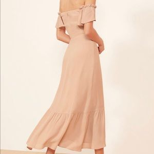 Reformation Butterfly Dress (Champagne)